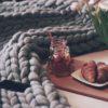 Obria pletená deka z merino ovčej vlny