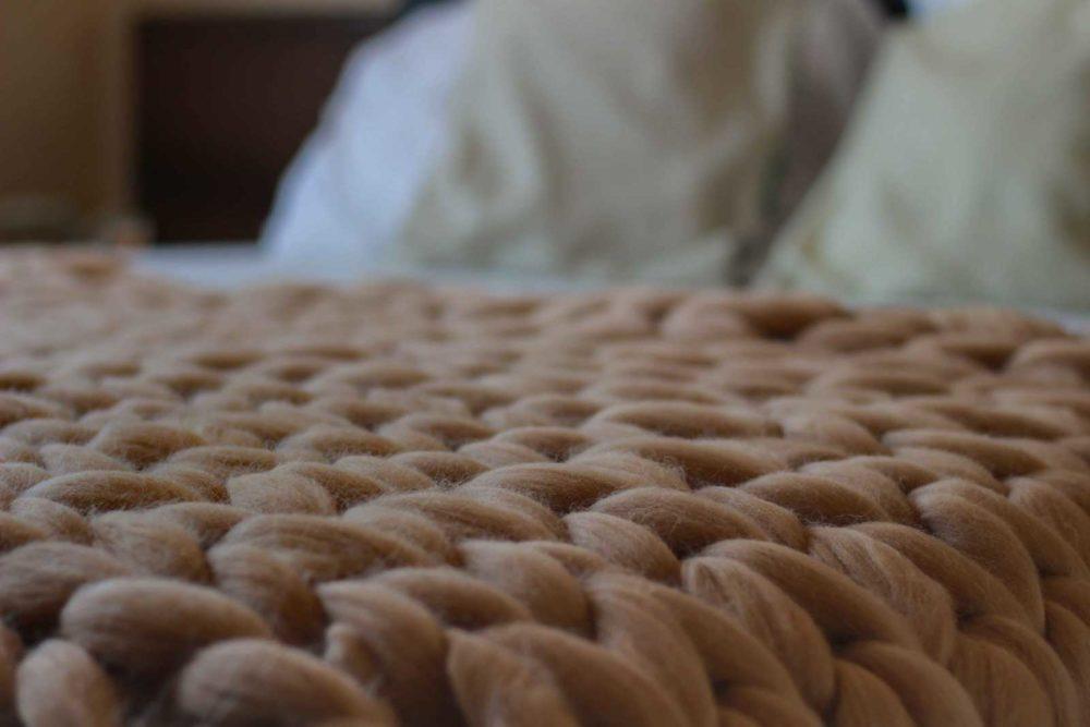 Mega pletená deka