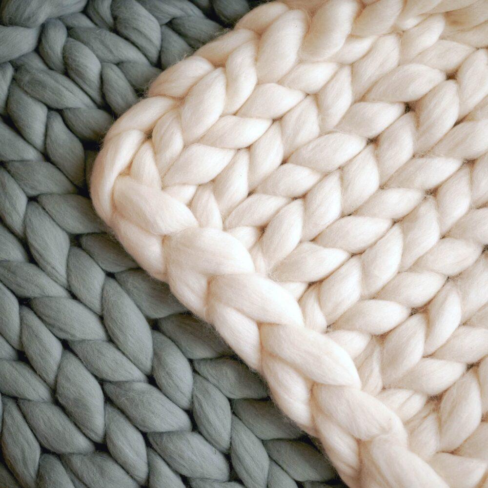 Pletené deky z merino ovčí vlny